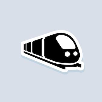 Наклейка поезд. путь поездки. концепция путешествия. вектор на изолированном фоне. eps 10.