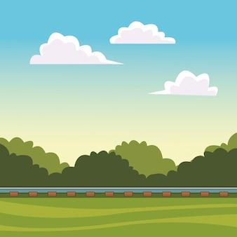 Train track landscape
