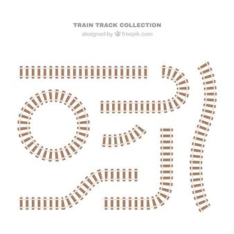 Железнодорожные пути в плоском дизайне