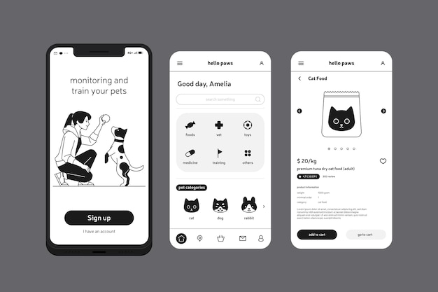Allena l'app per cellulare per animali domestici