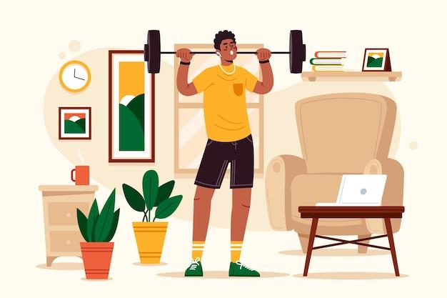 집에서 훈련 개념