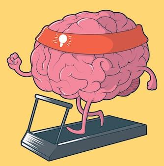 トレーニング脳のイラスト。メンタルスポーツのコンセプト