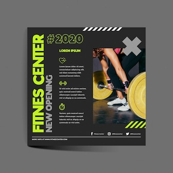 Training center square flyer template