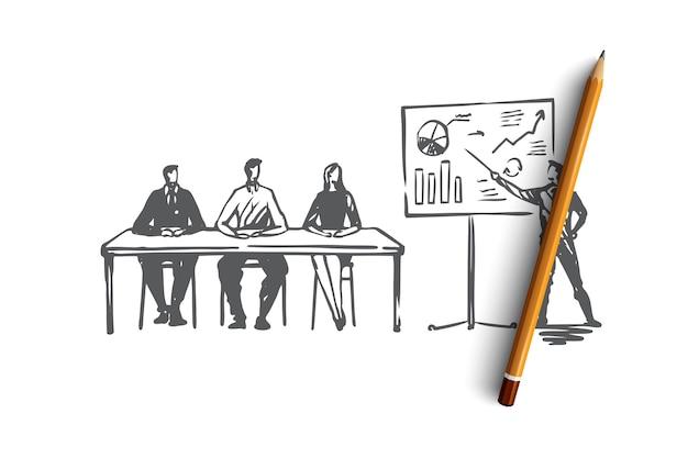 Training, courses education presentation seminar concept