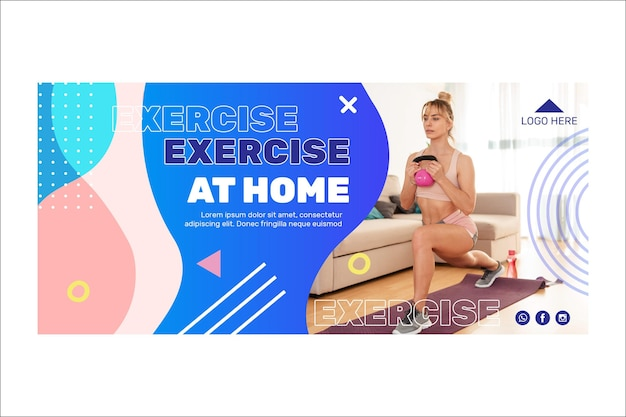 Training at home banner design