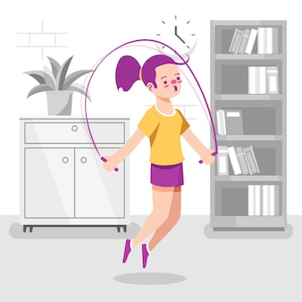 Training at home concept
