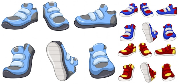 Training shoes in many designs
