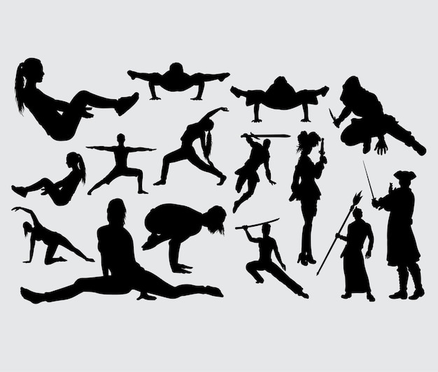 Training and using weapon silhouette