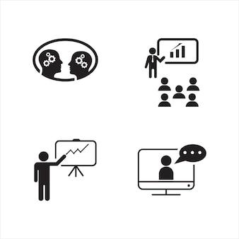 Тренировочные векторные иконки дизайн иллюстрации шаблон