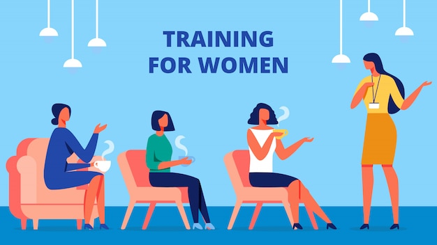 Training for women. coach communicate with client.