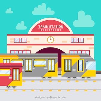 Treni che partono dalla stazione ferroviaria