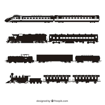 Trains silhouette collection