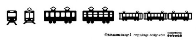 Trains silhouettes