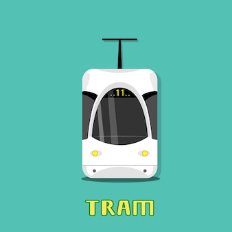 Tram modern city public transport