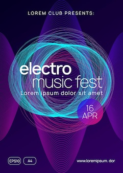 Trance event. dynamic gradient shape and line. bright discotheque cover design. neon trance event flyer. techno dj party. electro dance music. electronic sound. club fest poster.