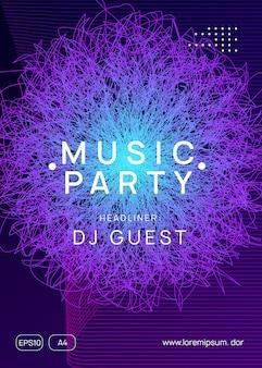 Trance party dj неоновый флаер