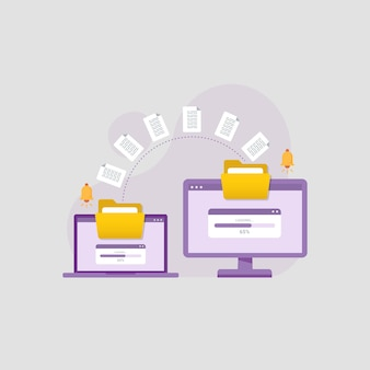 장치 설계 개념 간에 문서 파일 전송