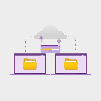 Transfer document files between devices design concept