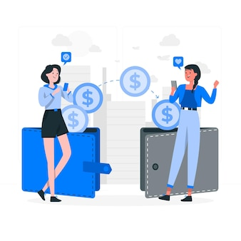 Transfer money concept illustration