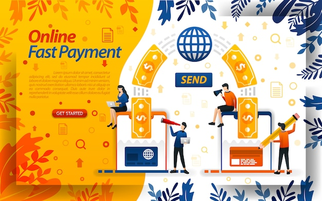 Transfer, pay and send money easily with internet and smartphone