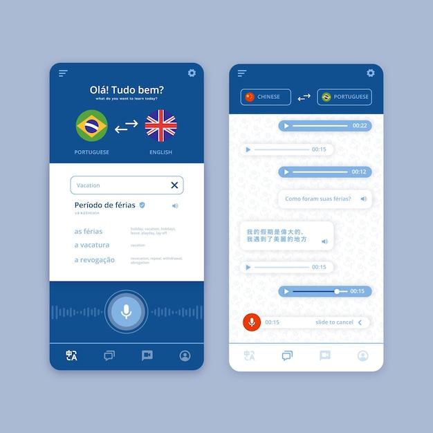 Translator app concept