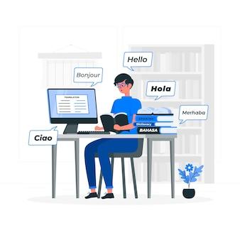 Translator concept illustration