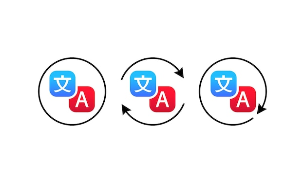 Translator icon. online language translate concept. vector on isolated white background. eps 10.