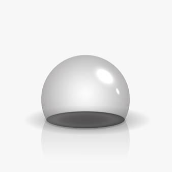 半透明の空のガラス球またはオーブ