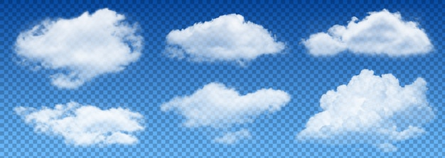 Transparency cloud vector