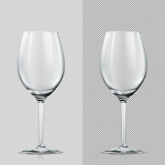 Transparency wine glass. isolated