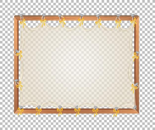 Transparent blank wooden board