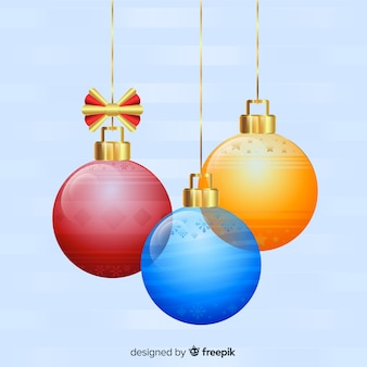 Transparent christmas ball collection with elegant style