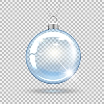 Transparent christmas ball for decorating the new year tree.
