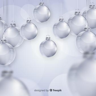 Transparent christmas balls collection