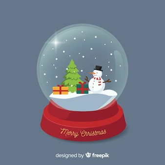 Transparent christmas snowball
