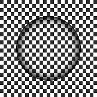 Transparent circle hole with blurred edge