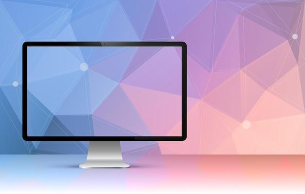 Иллюстрация прозрачного экрана компьютера