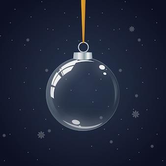 Transparent crystal christmas ball