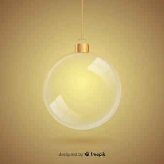 Прозрачный хрустальный новогодний шар Бесплатные векторы