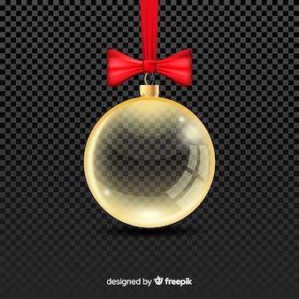 Transparent crystal christmass ball