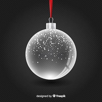 Прозрачный хрустальный новогодний шар