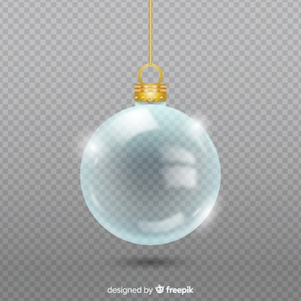 Transparent crystal christmass ball