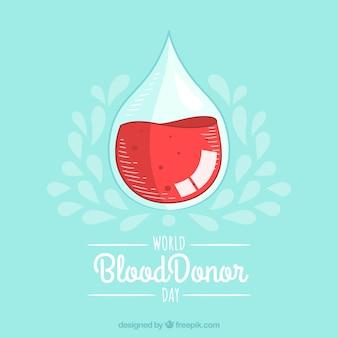 Прозрачная заливка с фоном для крови
