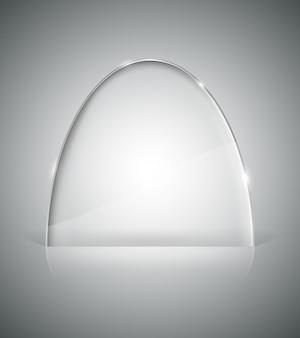 Transparent elliptic glass stand