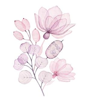 Прозрачная композиция из цветов