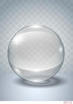 Transparent glass ball