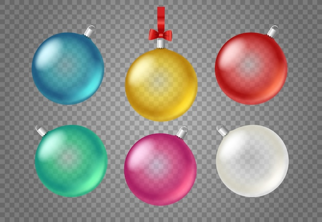 Transparent glass christmas bubles