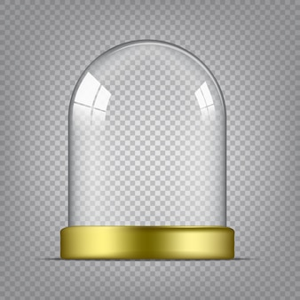 Transparent glass dome template