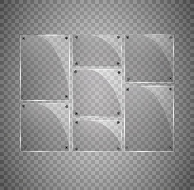 透明ガラスプレートセット