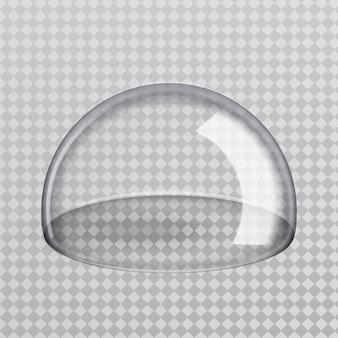 투명 유리 반 구입니다.